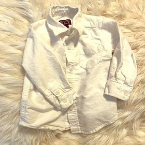 Children's Place white button down shirt size 18mo